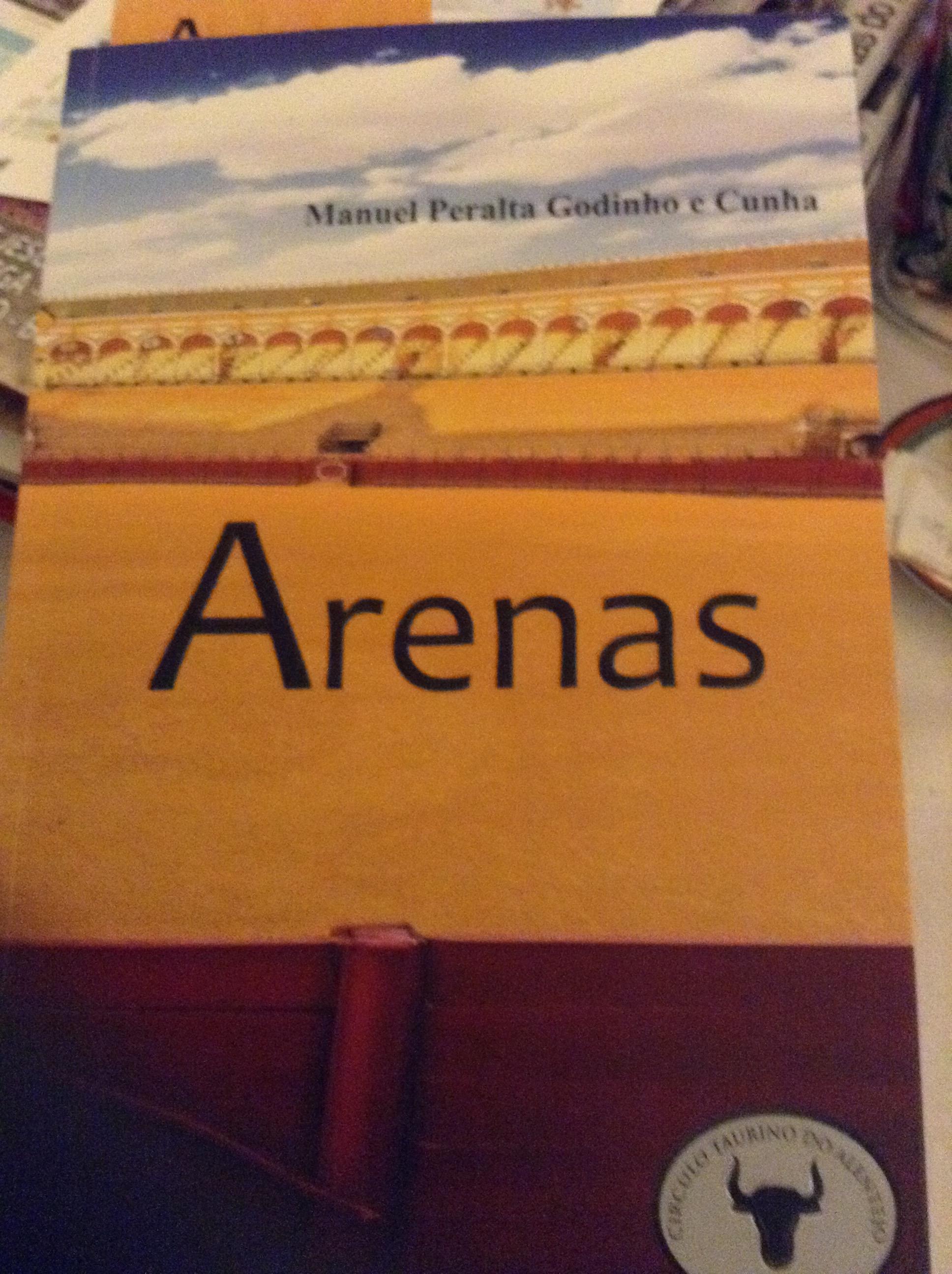 """Capa do livro """"Arenas"""""""